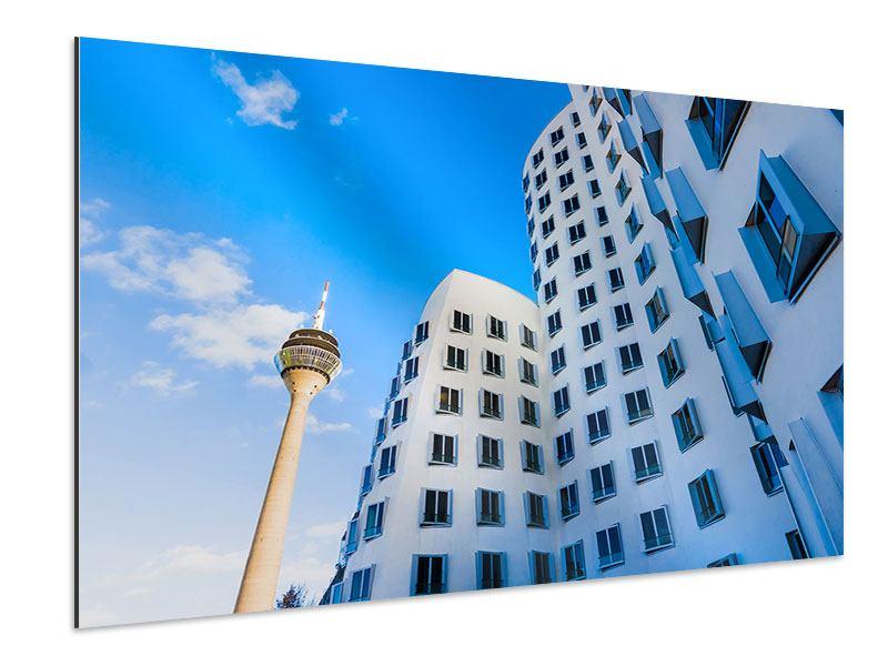 Aluminiumbild Neuer Zollhof Düsseldorf