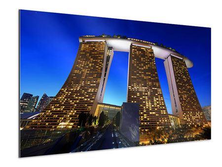 Aluminiumbild Wolkenkratzer Singapur