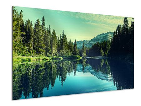 Aluminiumbild Die Musik der Stille in den Bergen