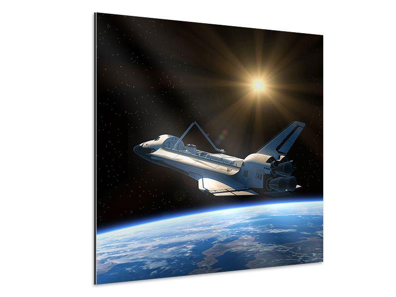 Aluminiumbild Das Raumschiff