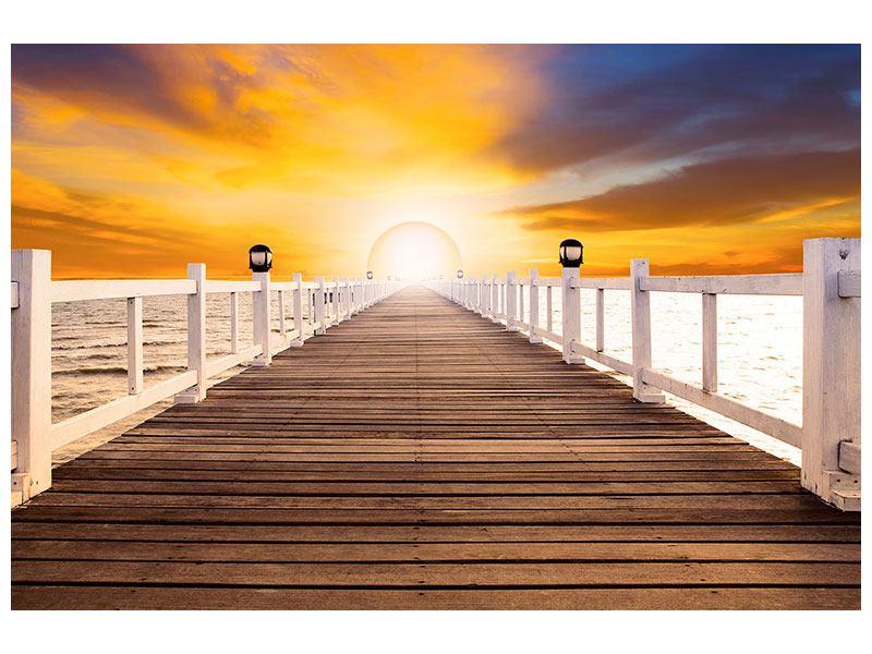 Aluminiumbild Die Brücke Ins Glück