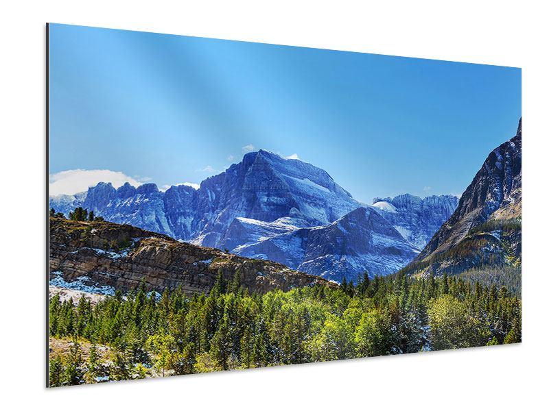 Aluminiumbild Dem Gipfel entgegen