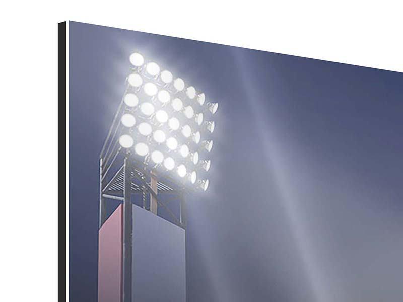 Aluminiumbild Fussballstadion
