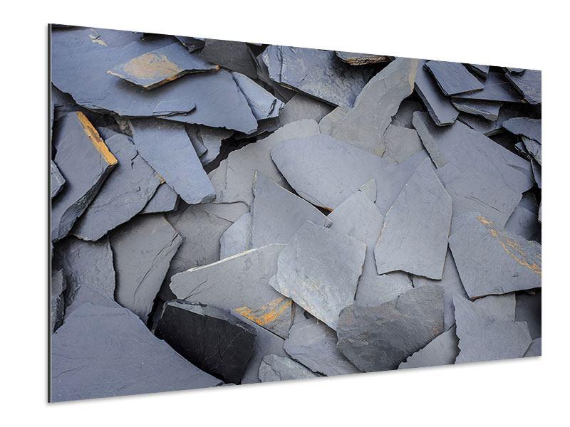 Aluminiumbild Schieferplatten