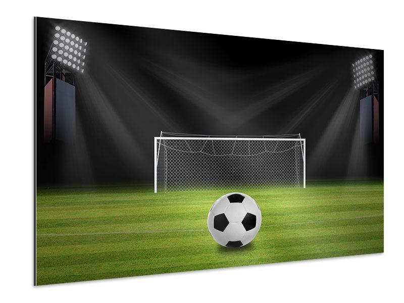 Aluminiumbild Fussball-Tor