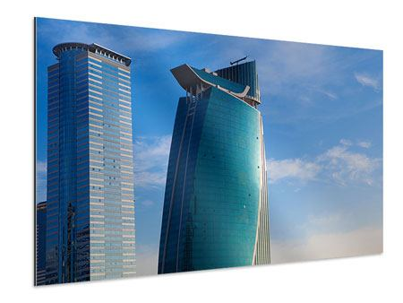 Aluminiumbild Zwei Wolkenkratzer