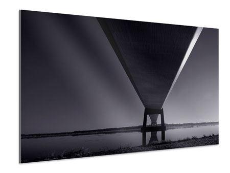 Aluminiumbild Die Brücke über tiefes Wasser