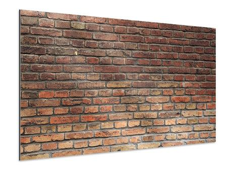 Aluminiumbild Brick Wall
