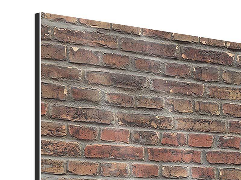 Aluminiumbild Ziegelmauer