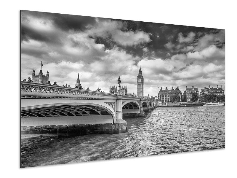 Aluminiumbild Westminster Bridge