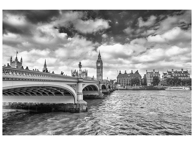 Aluminiumbild Westminster Bridge
