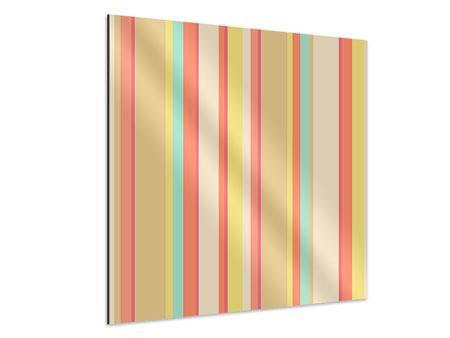 Aluminiumbild Pastell Streifen