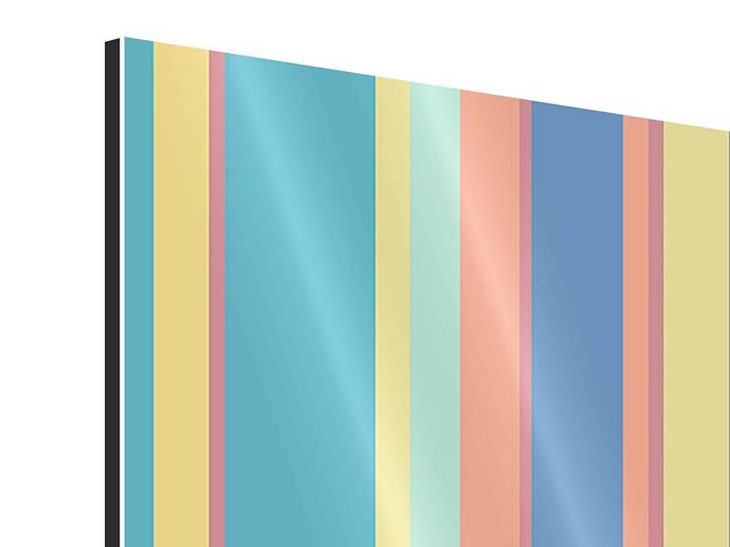 Aluminiumbild Längstreifen in Pastell