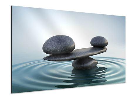 Aluminiumbild Steinbalance