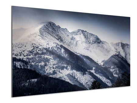 Aluminiumbild Die Berge der Schweiz