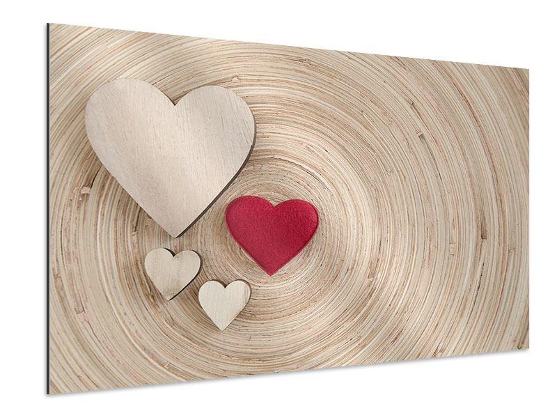 Aluminiumbild Herzen