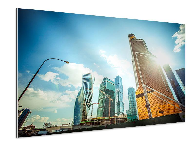 Aluminiumbild Wolkenkratzer Moskau