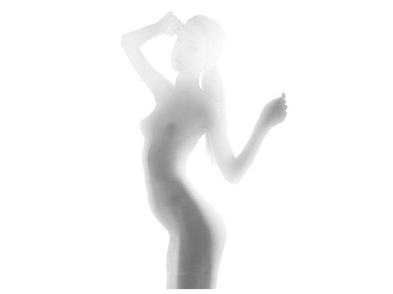 Aluminiumbild Aktmodel