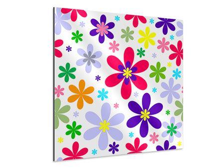 Aluminiumbild Retromode Blumen