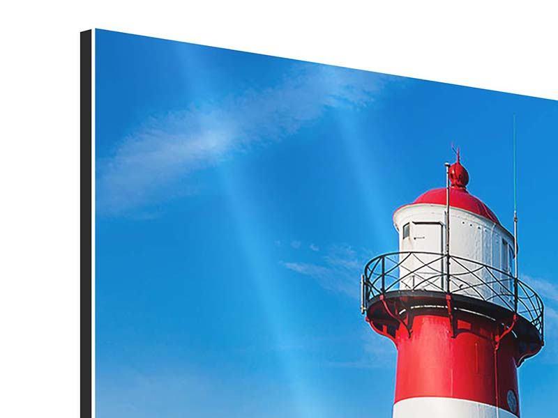 Aluminiumbild Sommer beim Leuchtturm