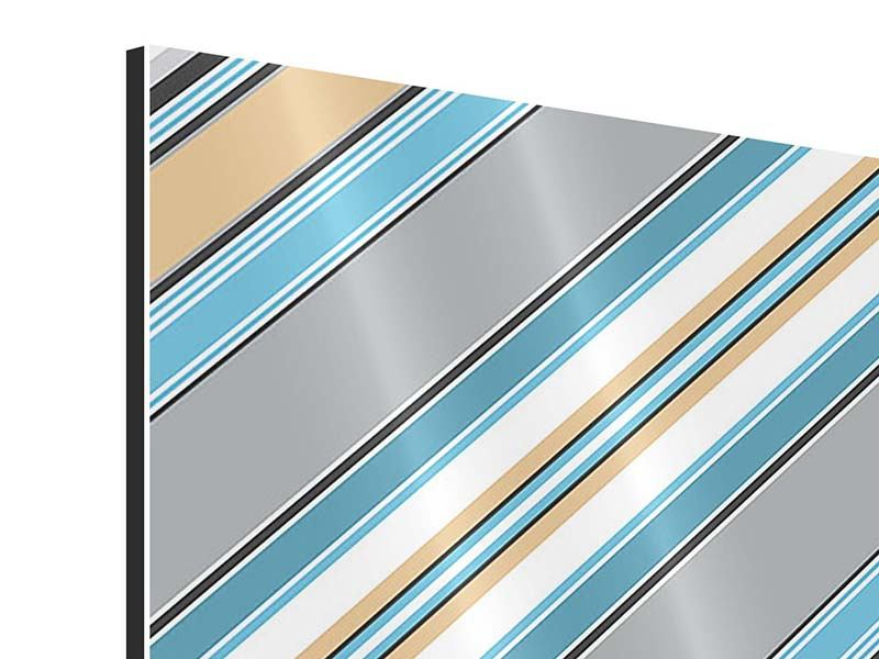 Aluminiumbild Farbstreifen