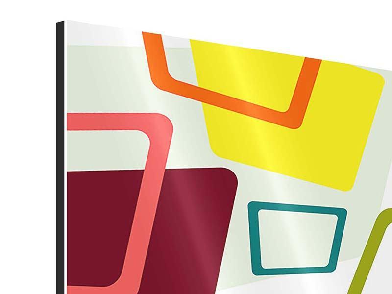 Aluminiumbild Rechtecke im Retrodesign
