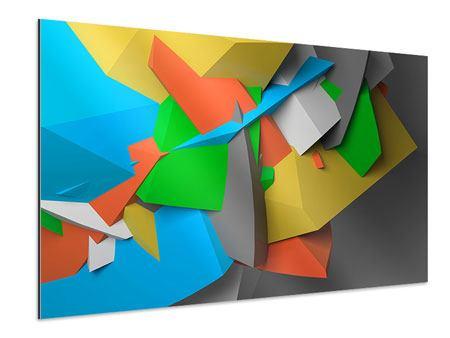 Aluminiumbild 3D-Geometrische Figuren