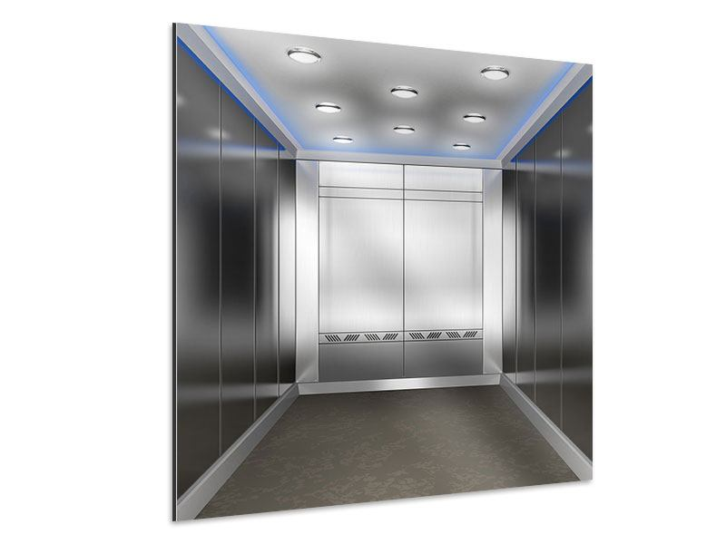 Aluminiumbild Eleganter Aufzug