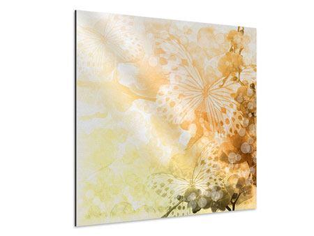 Aluminiumbild Romantische Schmetterlinge
