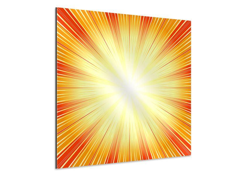 Aluminiumbild Abstrakte Retro Sonne