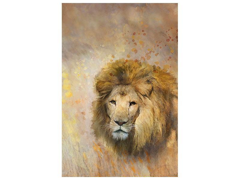 Aluminiumbild König der Löwen