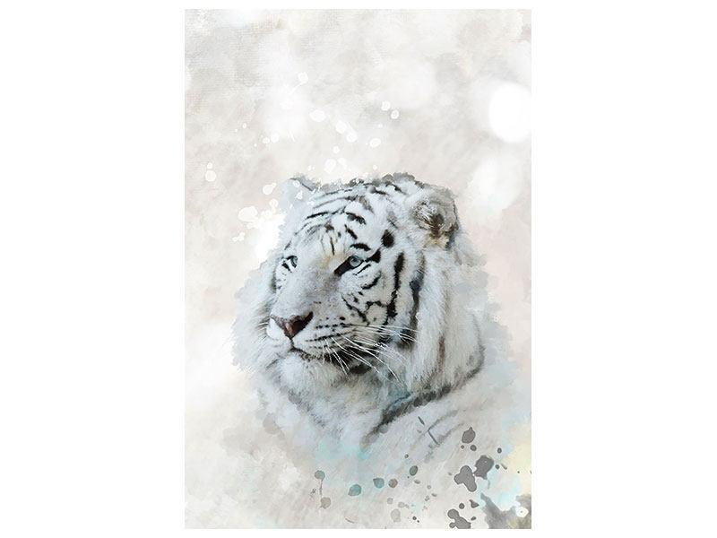 Aluminiumbild Tiger-Gemälde