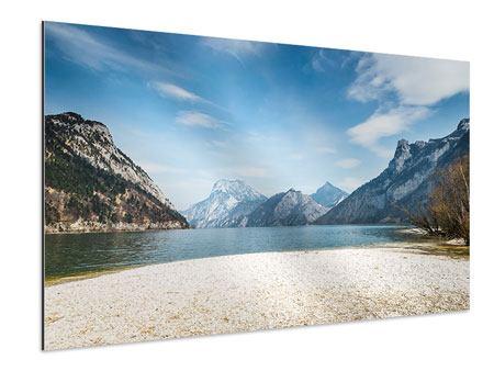 Aluminiumbild Der idyllische Bergsee