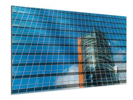 Aluminiumbild Wolkenkratzer-Spiegel