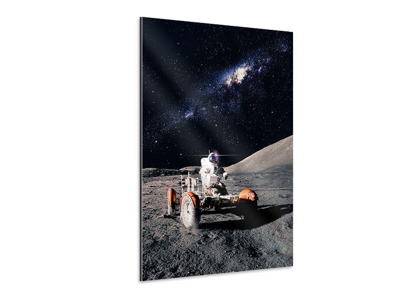 Aluminiumbild Astronauten-Arbeit