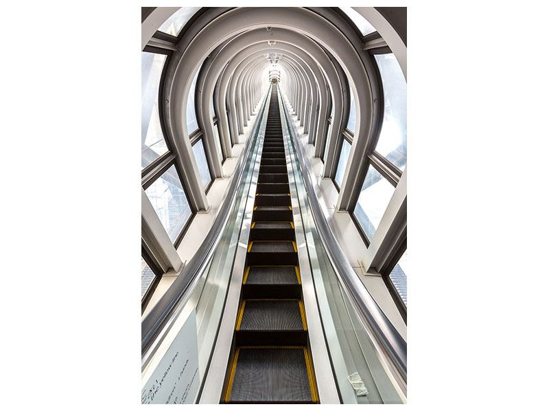 Aluminiumbild Futuristische Rolltreppe