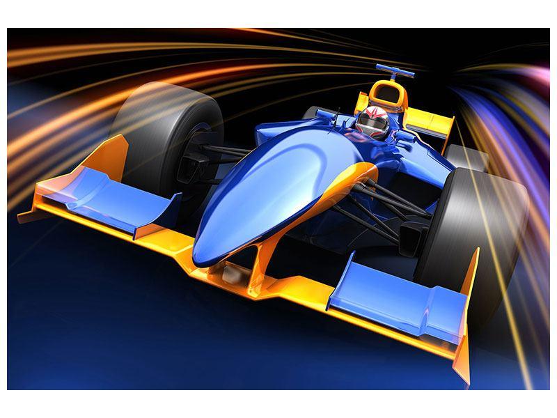 Aluminiumbild Autorennen