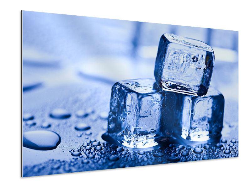 Aluminiumbild Eiswürfel