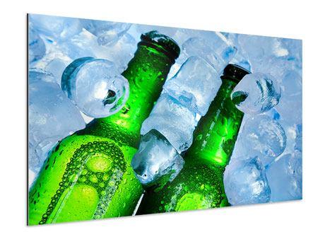 Aluminiumbild Eisflaschen