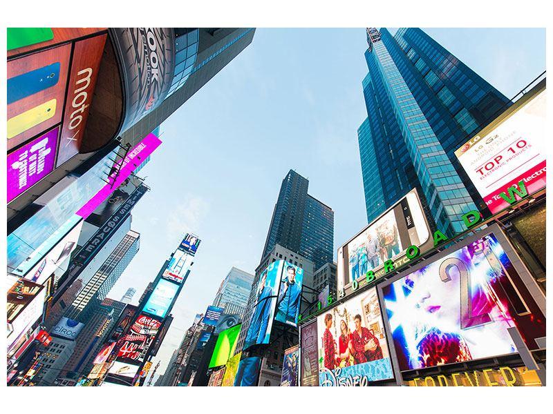Aluminiumbild Shopping in NYC