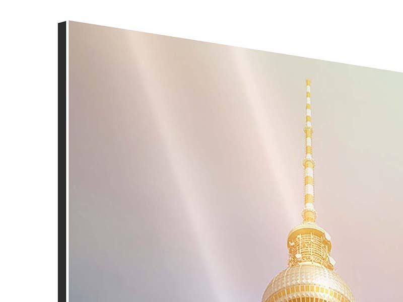 Aluminiumbild Berliner Fernsehturm