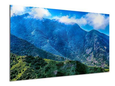 Aluminiumbild Die Berglandschaft