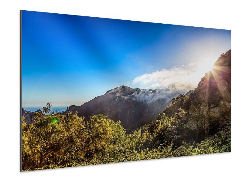Aluminiumbild Berge am Meer