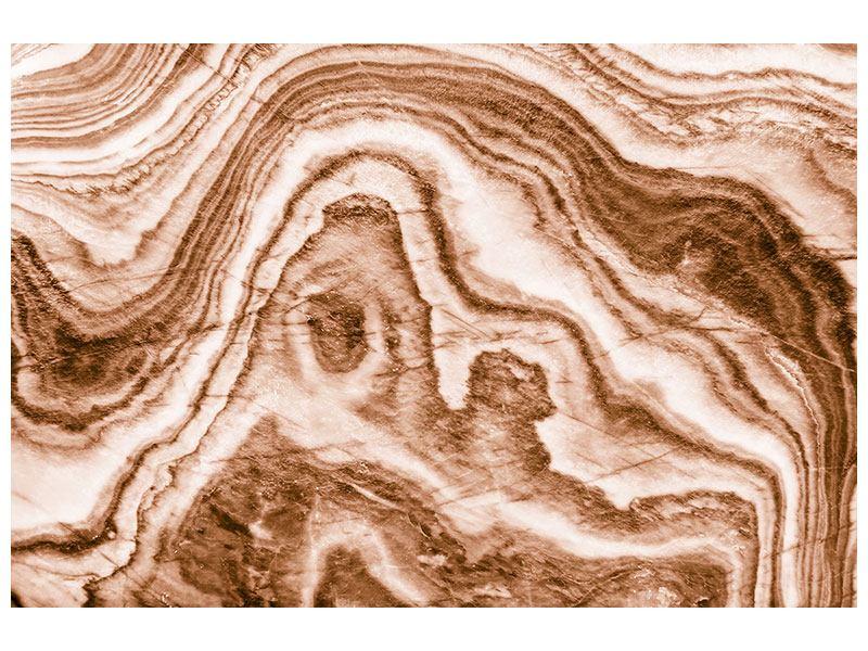 Aluminiumbild Marmor in Sepia
