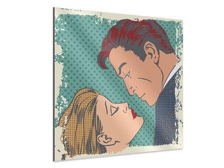 Aluminiumbild Pop Art Liebe