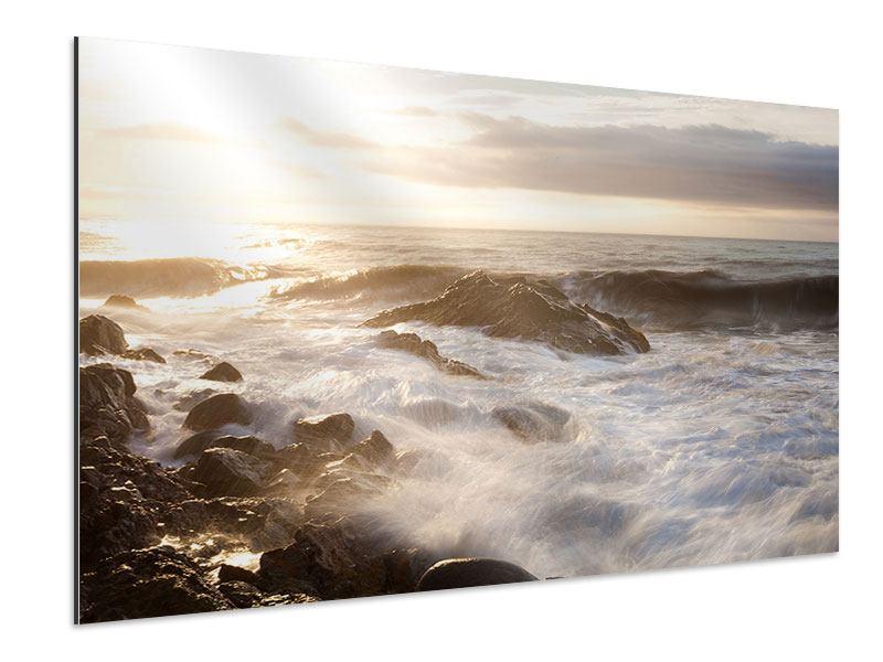 Aluminiumbild Meeresbrandung