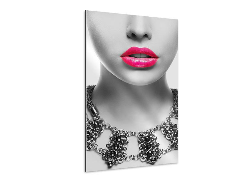 Aluminiumbild Rote Lippen