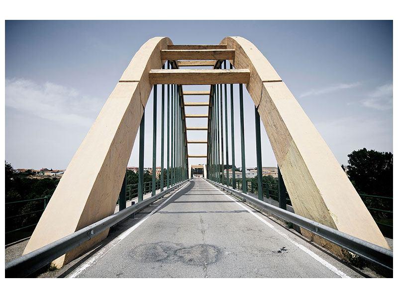 Aluminiumbild Imposante Hängebrücke