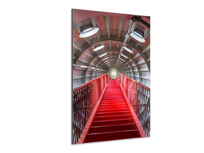 Aluminiumbild Futuristische Treppe