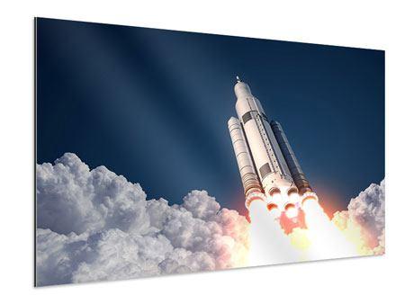 Aluminiumbild Raketenstart